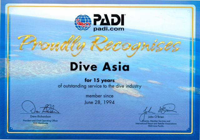 Dive Asia 15 Year