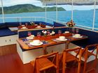 Dining Area Giamani Thailand Liveaboard Similan island with Dive Asia